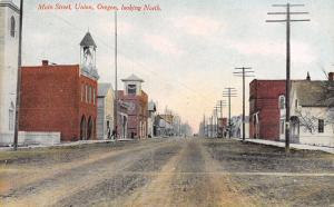 Union Oregon~City Hall w/Tall Belltower~AF&AM Masonic~IOOF/Rebekah Lodge c1910