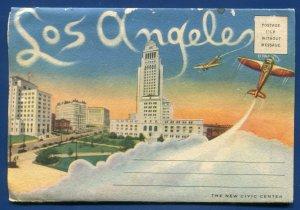 Los Angeles California ca Times Bldg Air View travel postcard folder