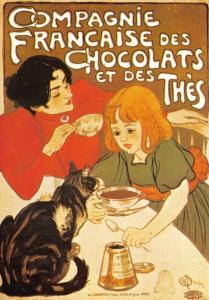 Postcard Compagnie Française Des Chocolats et des Thés, French Repro Advert E93