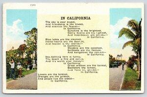 California Poem~Enemies are Fewest~People Live Oldest~Couples Pick Oranges~1920
