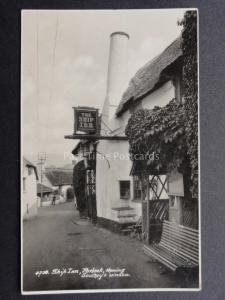 Somerset: PORLOCK Ship Inn showing Southey's Window - Old RP Postcard by E.A.S.