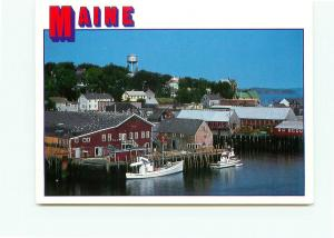 Postcard  Lubec Maine  Fishing Town Ships Water Tower # 3823A