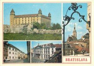 Post card Slovakia Bratislava several sights