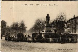 CPA TOULOUSE - Allées Lafayette - Statue Riquet (582444)