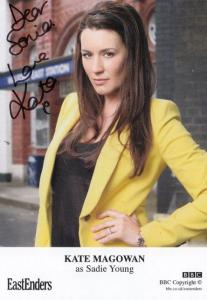 Kate Magowan as Sadie Young BBC Eastenders Hand Signed Cast Card Photo