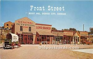 Front Street Replica, Boot Hill Dodge City, Kansas, KS, USA Unused