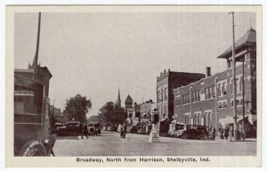 Shelbyville, Ind. Broadway, North from Harrison