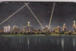 Florida Miami Skyline At Night