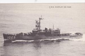 US Atlantic Fleet Warship USS Hartley DE-1029 on Narragansett Bay