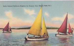 ASBURY PARK, New Jersey, 1930-40s; Sailboats