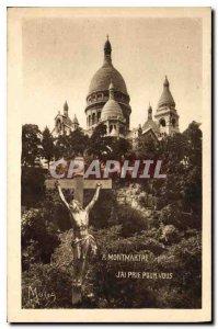 Old Postcard The Small Paintings of Paris Basilique du Sacre Coeur of Montmar...
