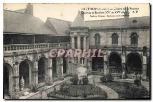 Postcard Old Tours Cloister of Psalette Galleries and Stairs