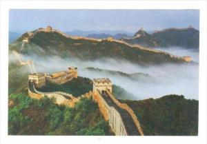 Great Wall of China, 80-90s   at Jinshanling shrouded in mist