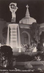 RP: Golden Gate Exposition , S.F. , Ca. , 1930s ; Rainbow Fountain at night