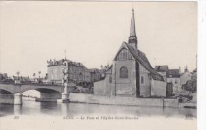 SENS, Yonne, Sens, 1900-1910's; Le Pont Et L'Eglise Saint-Maurice