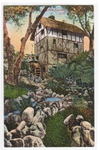 Old Dutch Mill Busch Gardens Pasadena California 1910c postcard