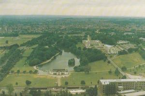 Nottingham University Spectacular 1980s Aerial View Birds Eye Postcard