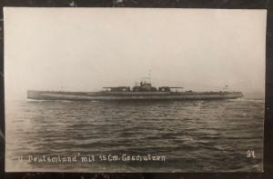 Mint Germany Postcard RPPC WWI U Boat Deutschland Kaiserliche Marine Submarine