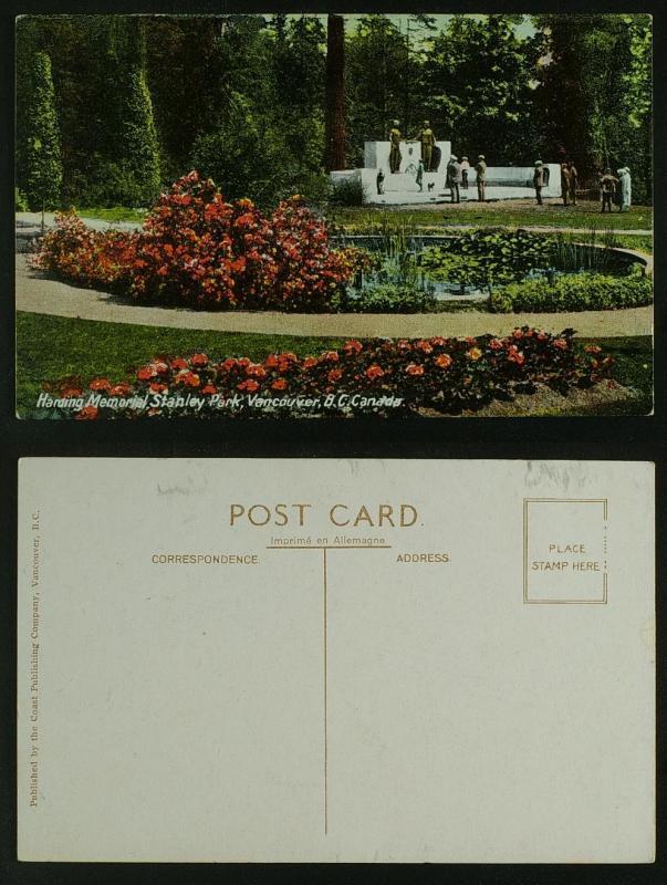Harding memorial Stanley park  Vancouver