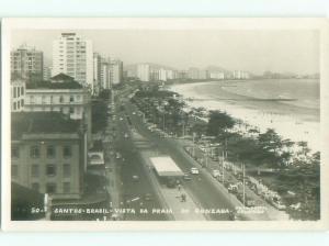 old rppc NICE VIEW Santos - Sao Paulo Brazil i3397