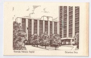 Riverside Methodist Hospital Columbus Ohio 1979 Postcard