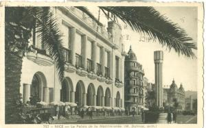 Nice, Le Palais de la Mediterranee, 1949 used Postcard