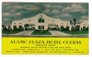 Mount Dora to Orlando, Florida 1951 used Postcard,  Alamo Plaza Hotel