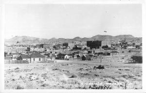 Goldfield Nevada panoramic bird's eye view of town real photo pc (Y5470)
