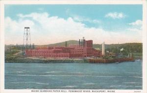 Maine Bucksport Maine Seaboard Paper Mill On Penobscot River Curteich