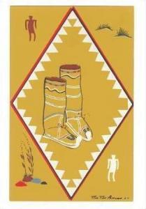 Art Card, Children's Buckskin Boots, Apache Indians, 20-30s