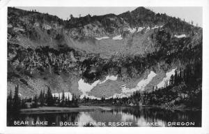 Baker Oregon Boulder Park Bear Lake Real Photo Antique Postcard K67238