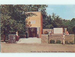 Pre-1980 postcard ad OLD STAGG KENTUCKY BOURBON WHISKEY Frankfort KY F9940