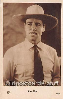 Jack Holt Movie Actor / Actress, Entertainment Postcard Post Card Silent & Ta...