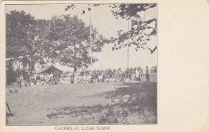 CANADA, 1900-1910's; Campers At Sugar Island