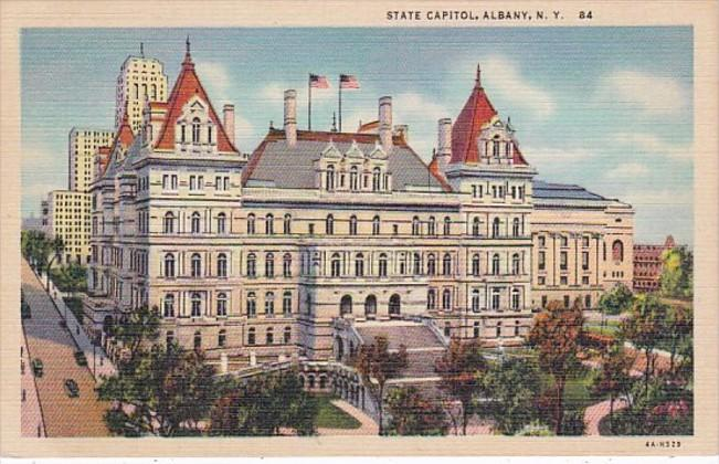 New York Albnay State Capitol Building Curteich