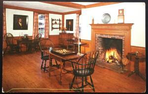 Postcard Unused Game Room Tavern Old Sturbridge Village MA LB