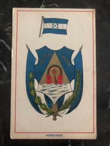 Mint Honduras Postcard Coat Of Arms God Union And Liberty