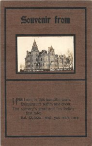 G41/ Brainerd Minnesota RPPC Postcard c1910 High School Building