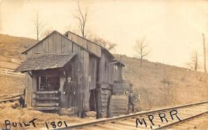 Seward NE Midland Pacific RR Station Train Depot Real Photo Postcard