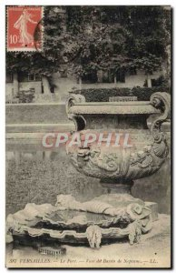 Old Postcard Versailles Park Neptune Basin Vase