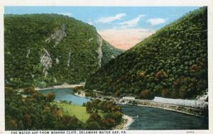 PA - Delaware Water Gap, View from Winona Cliff