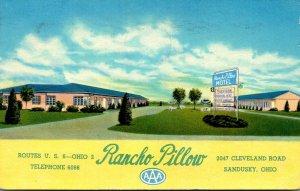 Ohio Sandusky Rancho Pillow Motel 1954