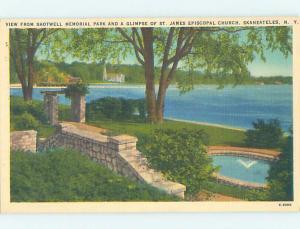 Linen MEMORIAL PARK Skaneateles - Near Auburn & Syracuse New York NY AD1130