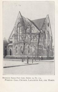 BROOKLYN, NYC, 1901-07;  Puritan Cong, Church, Lafayette Ave., Cor. Marcy