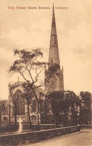 Coventry England~Holy Trinity Church Exterior Coventry~1910 Postcard