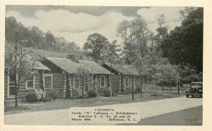 Auto Cannon's Cottages Kitchenettes Kaeser Blair #1119 1930s Postcard 493