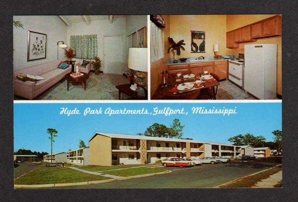 MS Hyde Park Apts Apartments GULFPORT MISS Postcard Mississippi