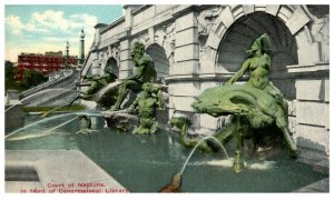 1910's Court Of Neptune Congressional Library Washington DC PC2021