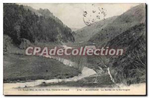 Old Postcard Auvergne La Vallee De La Dordogne