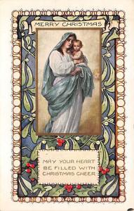 Christmas Holiday Postcard Vintage Xmas Post Card Wolf Publishing Unused